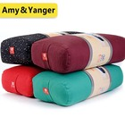 supportive cotton yoga bolster pillow rectangle chushions