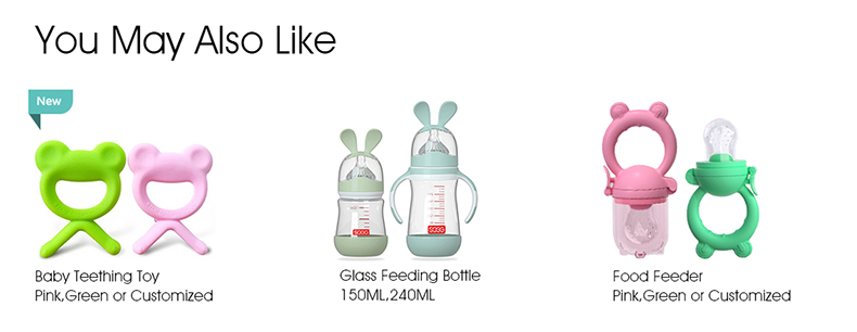 Custom made BPA Free color transparent silicone baby pacifier toy