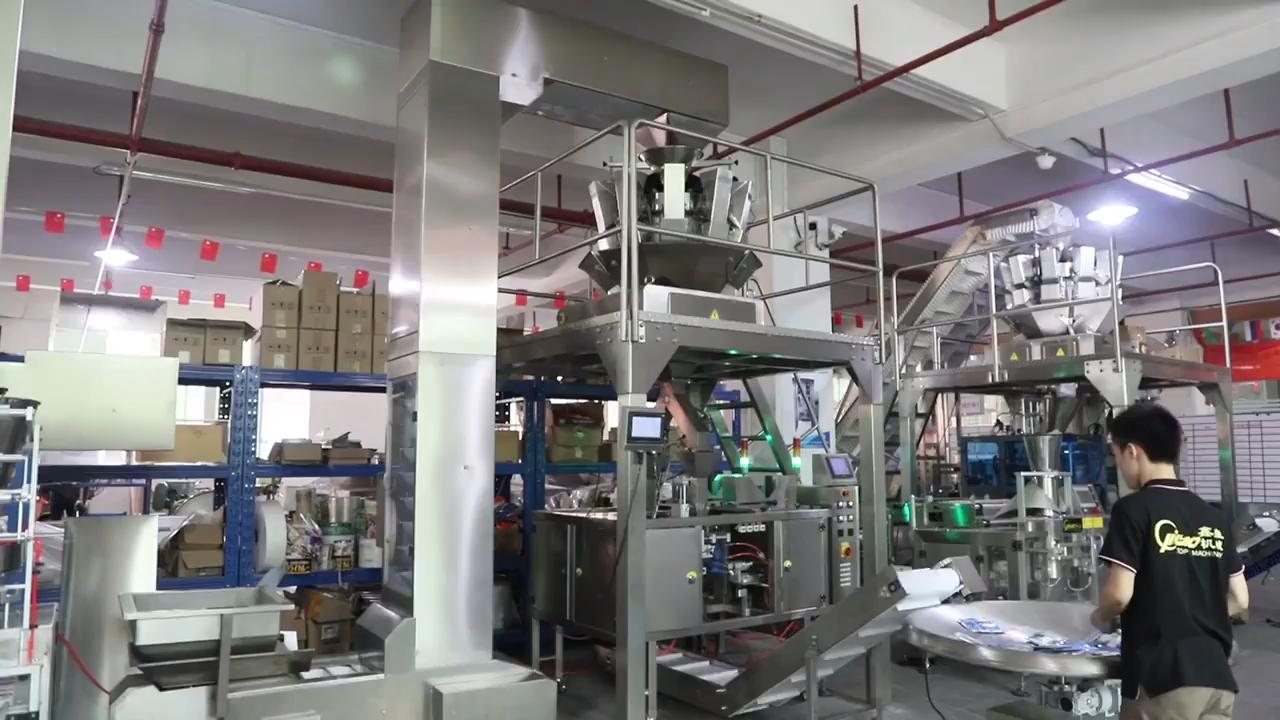 אוטומטי דופלקס מכונת אריזה ניילון שקיות דגני בוקר אריזה מכונה