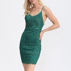Sexy Party Backless Bandage Bodycon Casual Strappy Lace Mini Dress Women
