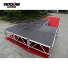 Aluminum portable concert stage height adjustable stage with riser
