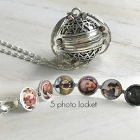 Expanding Photo Locket Necklace Pendant Angel Wings Gift Jewelry Decoration Necklace Exquisite Ornaments Pendant Romantic