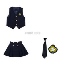 Летняя школьная форма для мальчиков и девочек, костюм для школьников, детский сад, вечерние платья с юбкой для девочек, комплект спортивной ...(Китай)