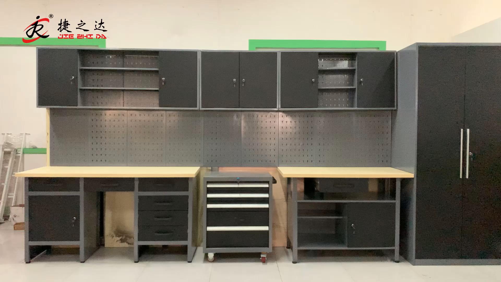 New Design 호주 핫 잘 팔리는 걸 이식 벽 tool 캐비닛 강 워크 벤치로 metal 캐비닛/garage storage tool 상자 대 한 workshop