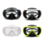 Professional Adult Single-Lens Tempered glass Black Silicone Diving Mask
