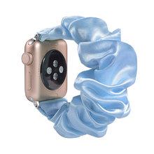 Растягивающийся эластичный ремешок для часов Apple Watch 38 мм/40 мм 42 мм/44 мм Повседневный женский ремешок для iwatch(China)