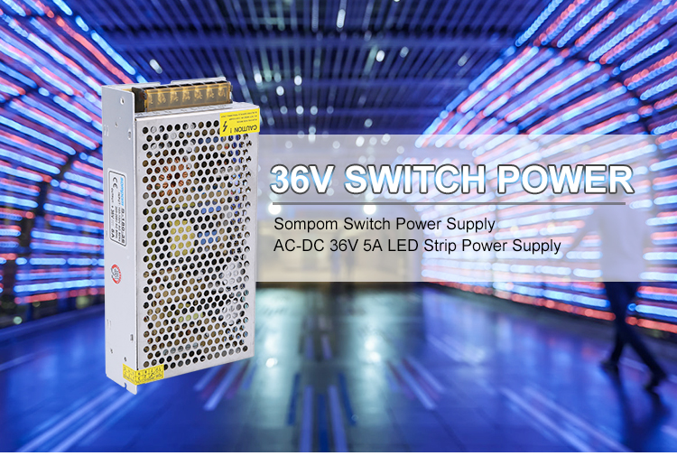 China Manufacture High Quality Aluminum Case Led Driver 110V To 220V DC 36V 5A 180W Power Supply