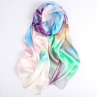 New Style customize colorful silk scarf