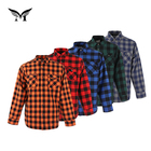 Latest full sleeve flannel thick stylish designer winter check shirts for men 100% cotton