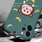 custom Print liquid silicone cell phone X 7 8 XS cover shockproof soft designers cute for iphone 11 12 case