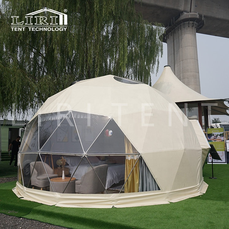 China Manufacturer 6m Outdoor Waterproof Luxury Geodesic Dome Hotel Glamping Tent for Sale