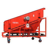 Mobile sand stone vibrating screen sieving machine