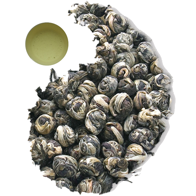 Organic Jasmine Green Tea loose leaves Dragon Pearl and Fair Trade EU Standard - 4uTea | 4uTea.com