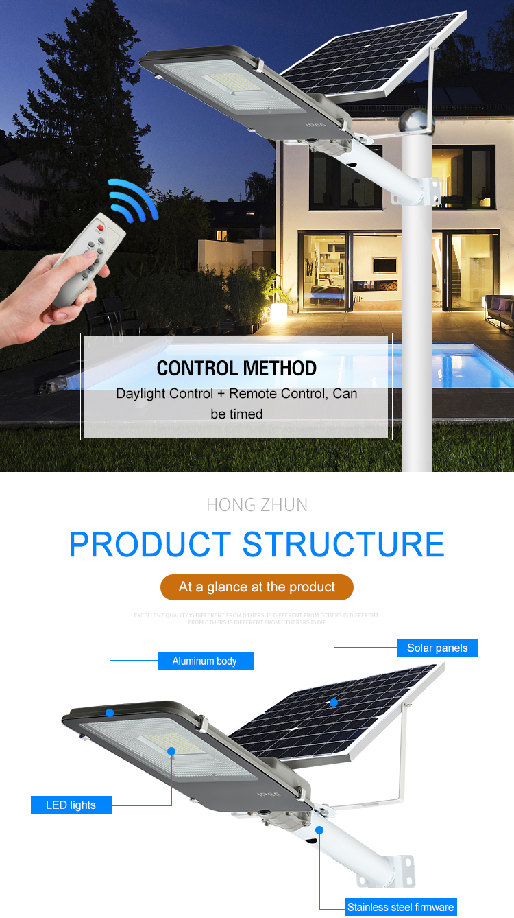 Factory price ip65 waterproof 10 20 30 50 100 200 300 watt smd module solar led street light
