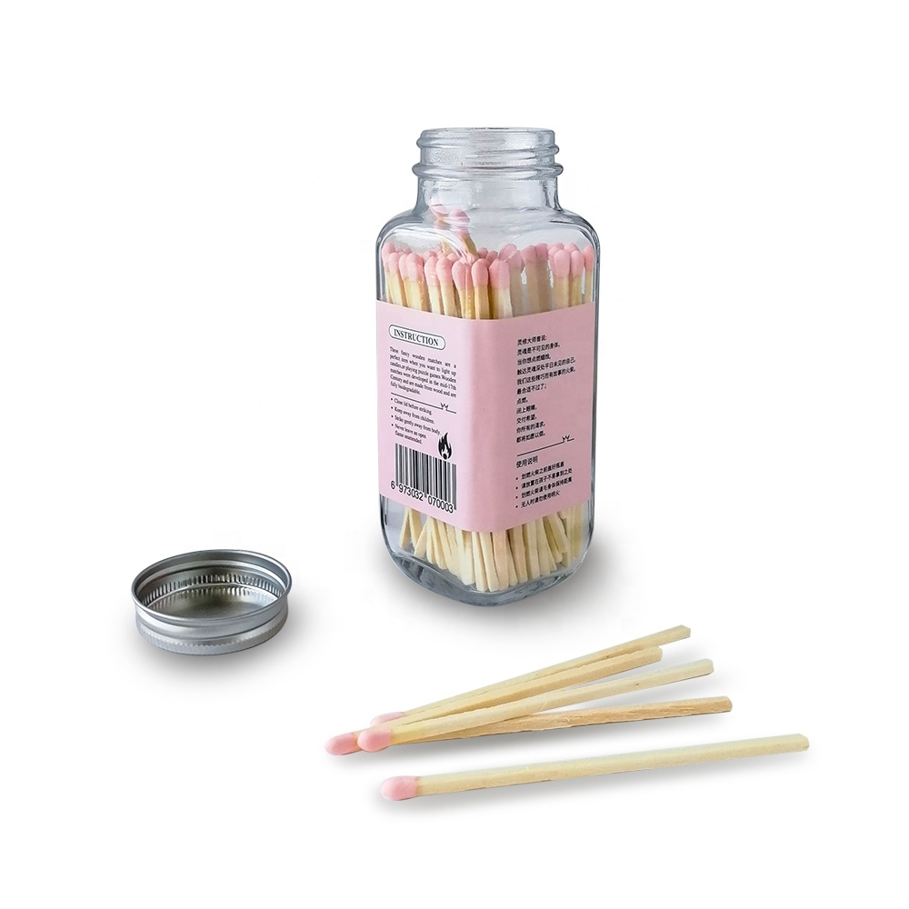 Customized matches gifts matches glass jar bottle matches with cheap price