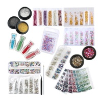 Amazon Hot Selling 2020 Small Micro Caviar Bead Nail Rhinestone Gold Rivet Stickers Diverse Nail Decorations for Nail Art