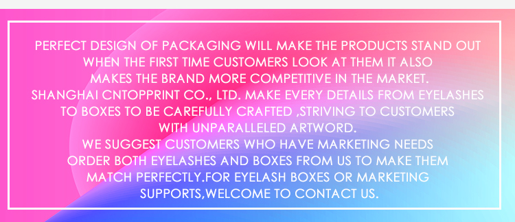Wholesale Price Factory Mink Eyelash Packaging Private Label Eyelashes Packaging Box