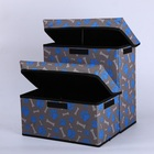 Wegifts pets storage two layers oxford foldable for cat or dog with lid