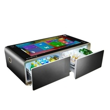 Neue design android system drahtlose lade smart touch screen kaffee tisch