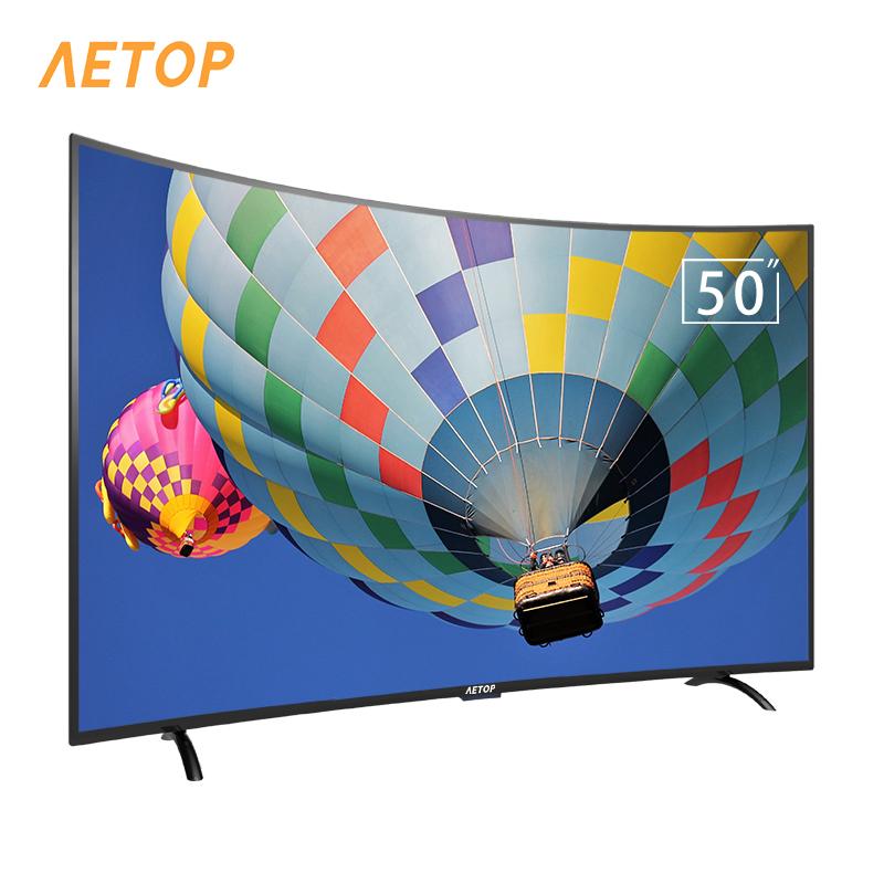 RTS 곡선 스마트 led tv 4k 울트라 HD 안드로이드 tv 50 인치 곡선 led tv 화면 블루투스