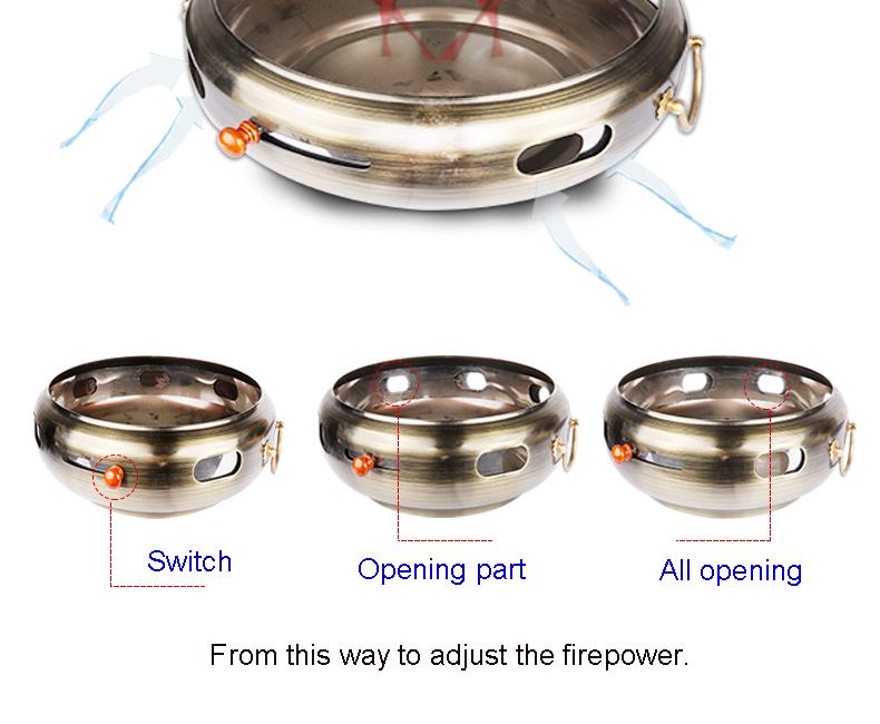 Weihai PINNIU יפני מסעדה ציוד מקורה יצוק ברזל צליית מנגל גריל נייד פחם thermometor גריל