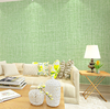 Gline wholesale 40cmx500cm green color heavy embossed fabric texture self adhesive pvc wallpaper