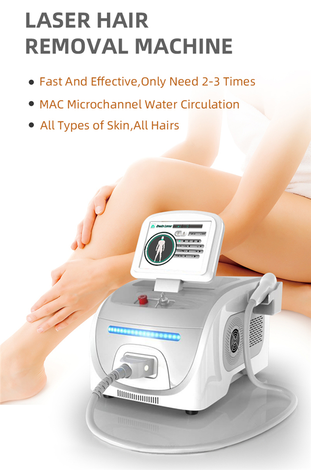 Portable Painless 808nm Diode Laser Hair Removal Machine