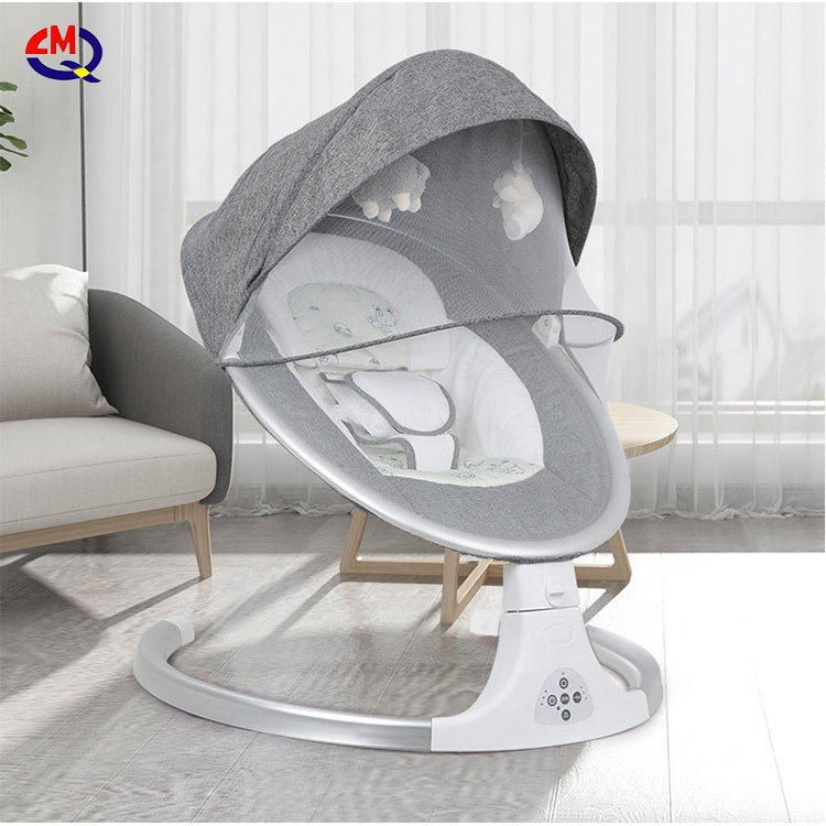 smart automatic control multifunctional safety baby bouncer bed infant rocker chair baby electric rocking chair crib