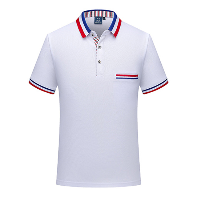 Wholesale custom logo dry fit 100% cotton mens white polo t shirt with custom printed logo