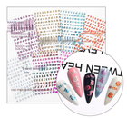 Stickers Nail Designer Decals Nails The New Double Ynail Decals 3DNail Stickers Ultra-thin Waterproof Nail Stickers