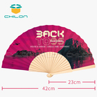Hot-sale fan design own logo folding wooden hand fan