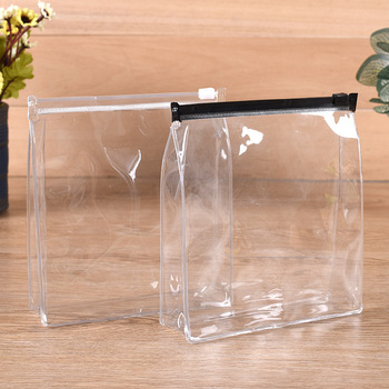 Cheap transparent PVC mini cosmetic bag for promotion pvc zipper travel clear bag with zipper