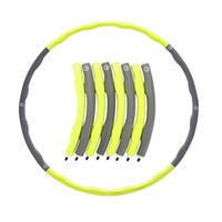 Wholesale Multi Coloured Collapsible 95cm Diameter Fitness Weight Exercise Hoola Loop Child