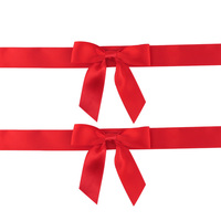pre-tied gift satin ribbons and bows for packing