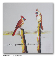 Modern Abstract Birds Oil Painting Wall Art On Canvas Supplier