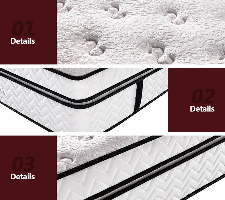 luxury pocket spring custom mattress foam spring mattress 5 star hotel wholesale pillow top mattress