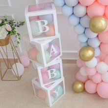 Meisje Jongen Baby Shower Decoraties Transparante Doos Baby 2 1st 1 Een <span class=keywords><strong>Verjaardagsfeestje</strong></span> Decor Gift Baby Shower <span class=keywords><strong>Gunsten</strong></span> Supplies
