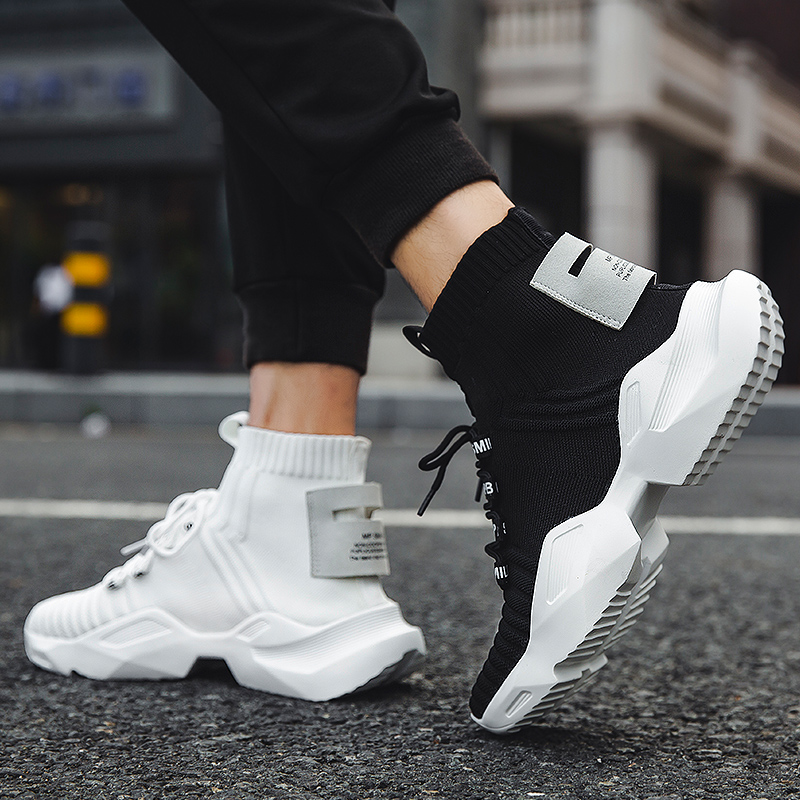OEM High top Knit custom <strong>shoes</strong> <strong>men</strong> casual white black fashion Sock sneakers <strong>mens</strong> boots wholesale china