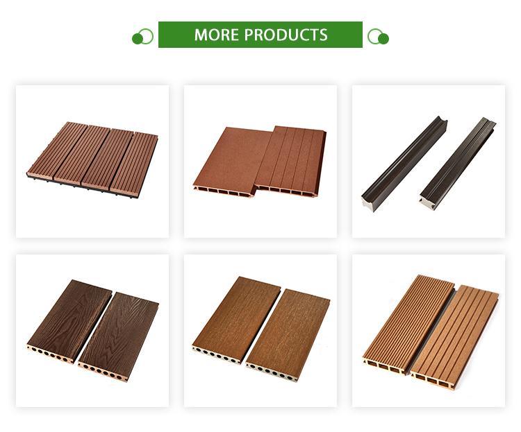 Outdoor tuin Floor Boards Wood Plastic Composite Decking Solid WPC Engineered Flooring