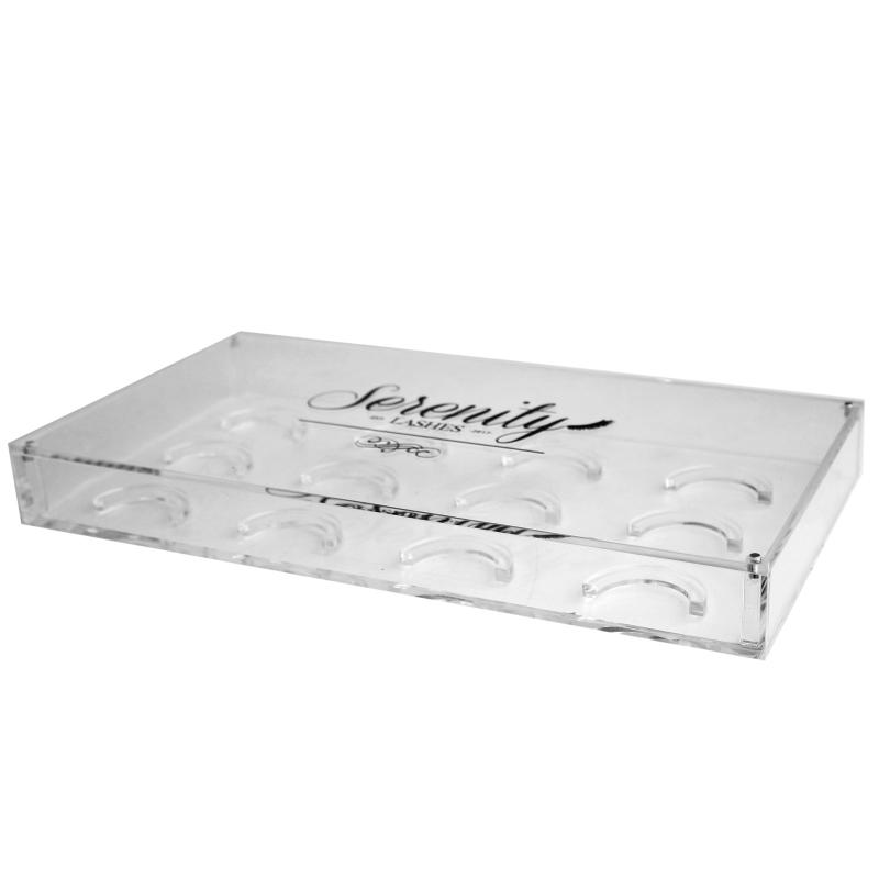 Hot Selling False Eyelash Storage Box Acrylic Makeup Cosmetic Case Organizer 6 Pairs False Eyelashes Case Storage Organizer