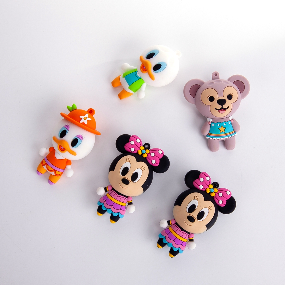 Cute custom 3D Soft PVC  keychain