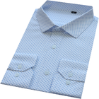 Men's Long Sleeve Double Pockets White Casual Check Shirt