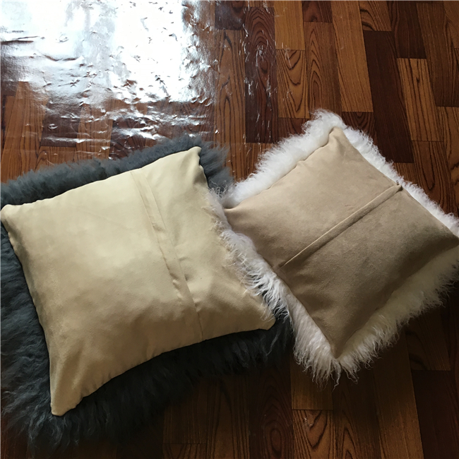 Modern home decor Mongolian Tibetan fur cushion covers