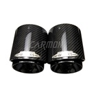 Pipe Exhaust For Exhaust Muffler Pipe Mini JCW Black Pipe Carbon Fiber Exhaust Tip Muffler Tips Fit For Mini Cooper F54 F55 F56 F57 F60 R55/R56/R57/R58 Cooper S