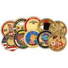 Custom 3D Zinc Alloy Brass Metal us navy army souvenir Enamel Antique Gold Challenge Coin No Minimum manufacturer military coins