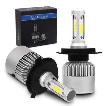 auto lighting system S2 cob car 9005 9006 h1 led light h4 h7 h11 72w 8000lm round led headlight bulbs for car