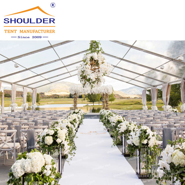 2020 Best Selling Clear Wall Stretch Waterproof Wedding Tents For 200 People