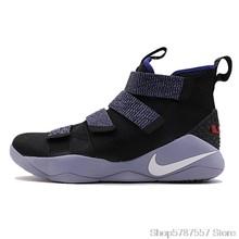 Оригинальные оригинальные мужские баскетбольные кроссовки Nike LEBRON SOLDIER 11, спортивные уличные кроссовки средней высоты, Новое поступление ...()