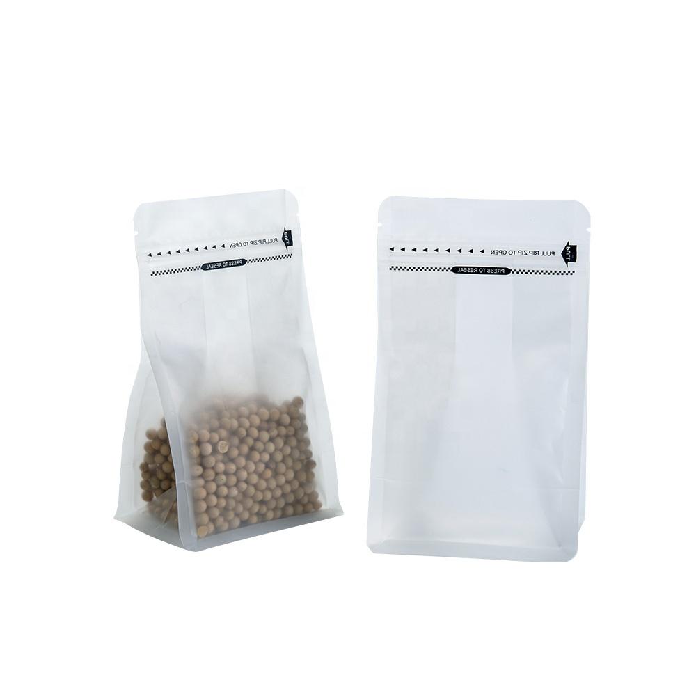 再封可能ななし印刷防水食品収納小さなジップロック透明バッグナット用