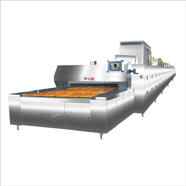 Heavy capacity pizza tunel oven gas power source